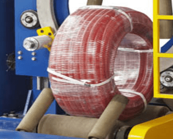 corrugated hose coil packing machine