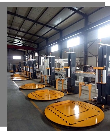stretch wrapping machine plant