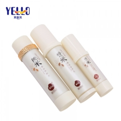 30ml 100ml Plastic Cosmetic Bottles , Pretty Lotion Bottles Cylindrical Shape