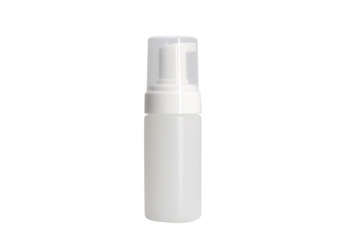 Clear Plastic Foam Pump Bottle 120ml Transparent Cap For Cosmetics