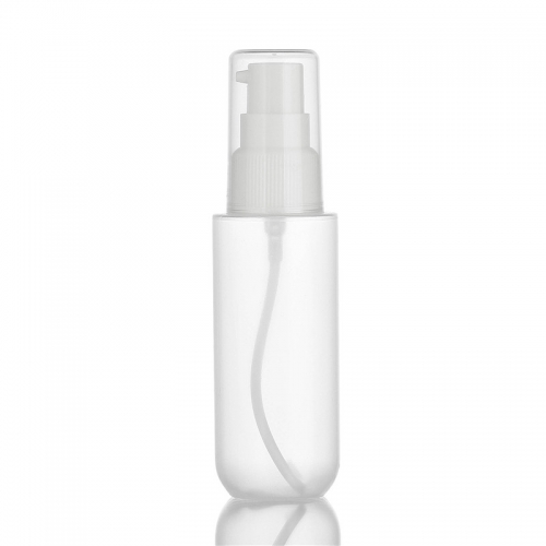 Transparent PP Plastic Bottle , Refillable Empty Cosmetic Containers 60Ml