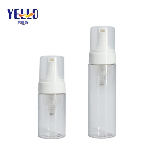 Clear Plastic Foam Pump Dispenser Bottle For Cosmetic Reusable Material