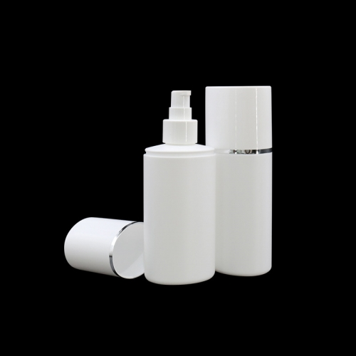 White Empty 200ml HDPE Cosmetic Plastic Lotion Bottles With Pump