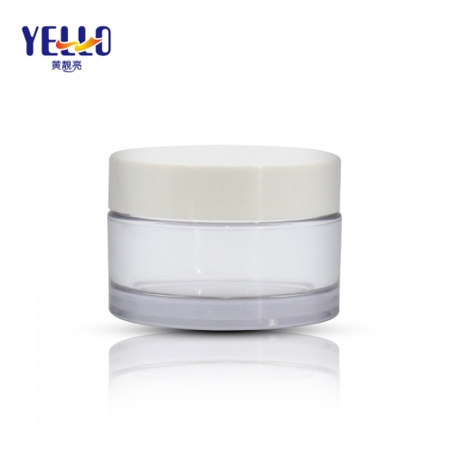 PET Plastic Cream Jar For Cosmetic Silk Printing Customize Color