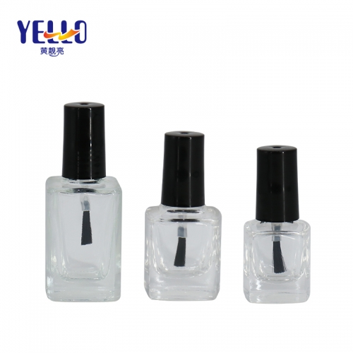 Small 5ml Cosmetic Glass Nail Polish Bottle , Custom Color Nail Polish Container