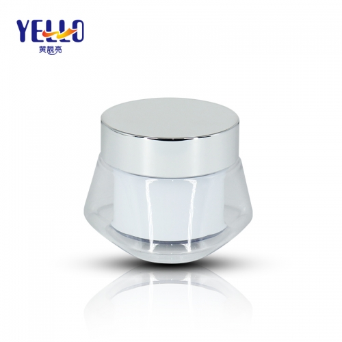 Unique Shape 50g Plastic Face Cream Jar For Cosmetic Packaging