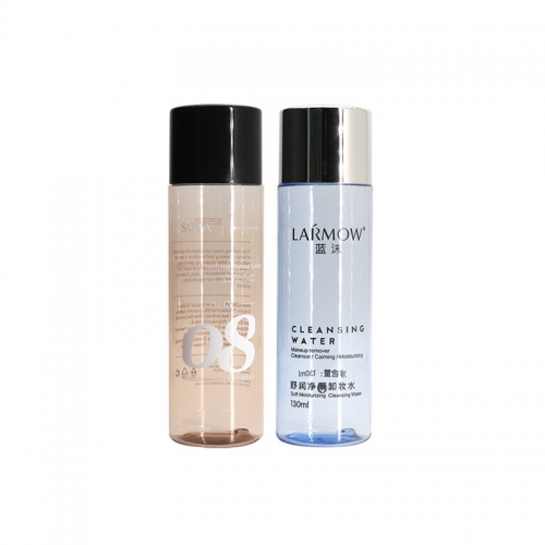PET Empty 120ml Cosmetic Toner Bottles For Skincare Packaging
