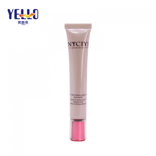 Luxury Empty Plastic Cosmetic Tubes For Eye Cream Small Capacity Pink Color