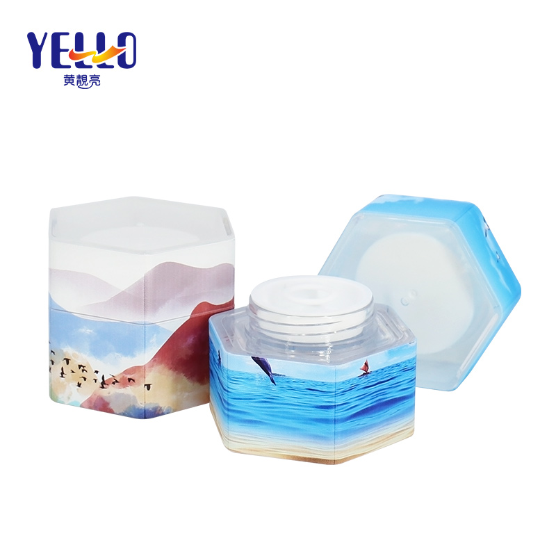 Personalized New Shaped 35g Mini Cream Jars Plastic Eye Cans for Cosmetic