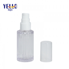 Fancy Clear Empty Dropper Bottle , 15ml 30ml Plastic Serum Bottle