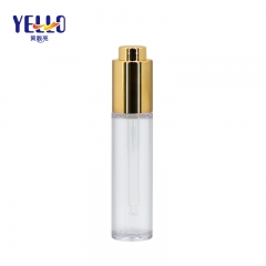 Cylinder Clear 25ml Press Button Plastic Dropper Bottles