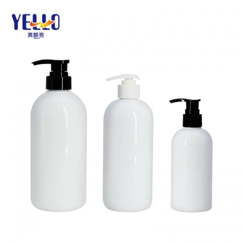Boston Round Empty Shampoo Bottles With Pump , PET Liquid Body Wash Bottles