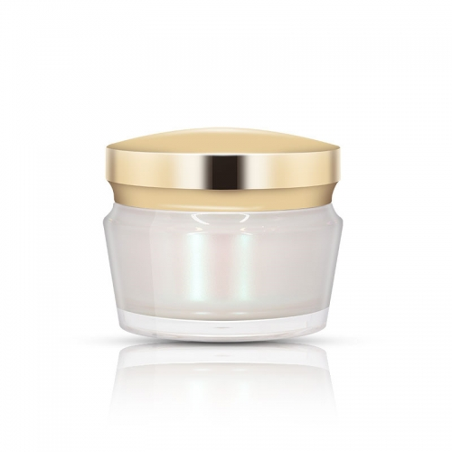 Gold Acrylic Cream Jars , Acrylic jar packaging for creams, serums and lotions