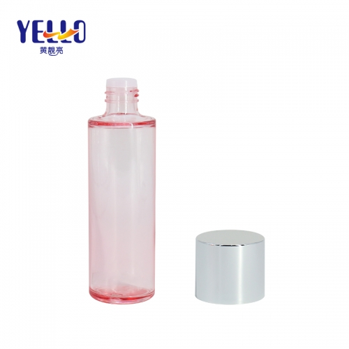 Empty Cosmetic Pink Toner Bottles / Heavy Wall PET Toner Bottle Factory Supply