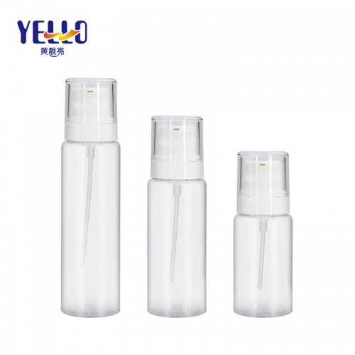 120ml 100ml 60ml Transparent Clear Lotion Bottles , Plastic Serum Bottles Bulk for sale