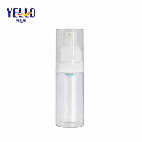 20ml Refillable Airless Pump Bottle / Clear Eye Cream Bottle Wholesale