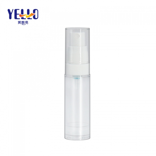 Custom Small Clear 15ml Airless Spray Bottle For Skincare Packaging