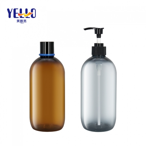 600ml 20 oz Refillable Shampoo Bottles / PET Shower Gel Pump Bottles
