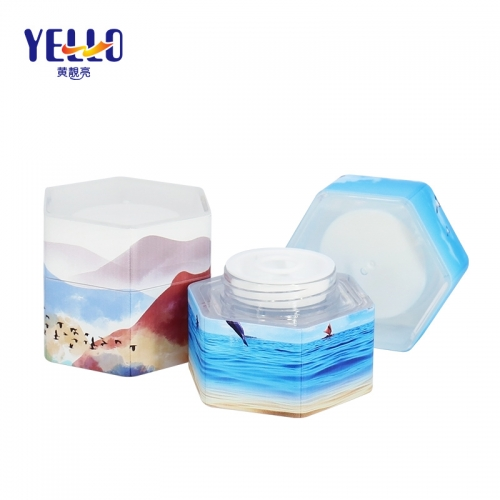 35g 1oz Luxury Plastic Cosmetic Jars For Cream / Eco Friendly Cosmetic Container