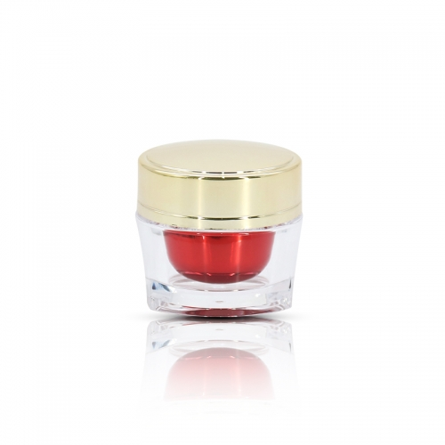 Mini PMMA Cosmetic Jars for Cream , 15ml Empty Eye Cream Jar Packaging