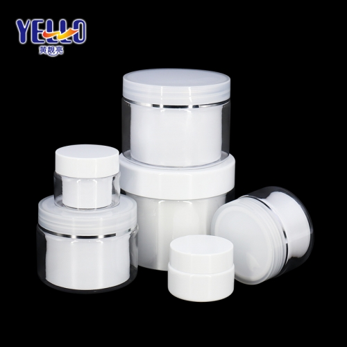 15g 30g 50g 100g Face Cream Jars / Double Wall PET Plastic Lotion Jars