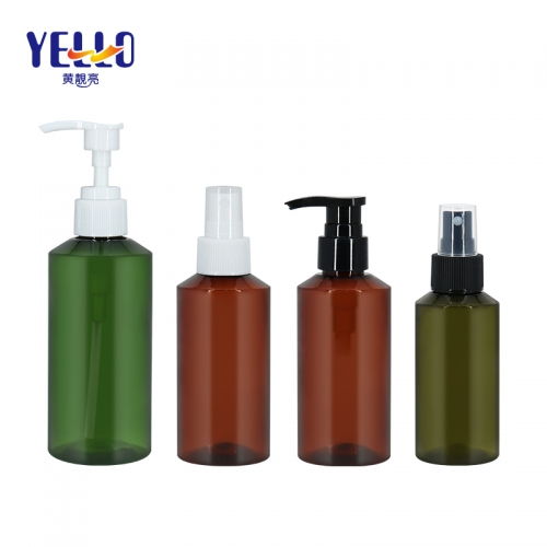 100ml 150ml 200ml PET Plastic Spray Bottles / Amber Fine Mist Spray Bottle Wholesale