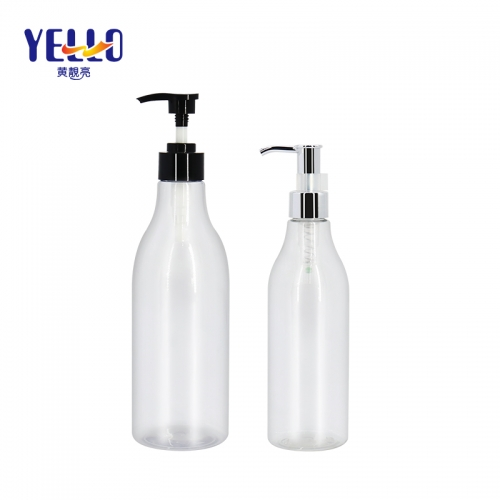 Personal Care 10oz Tranparent Plastic Shampoo Bottles With Dispenser Pump