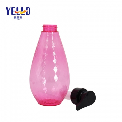 500ml Refillable Pink PET Shampoo And Conditioner Bottles Packaging