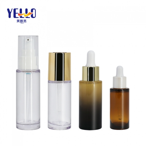 10ml 20ml 30ml Eco Friendly Serum Dropper Bottles / Empty Cosmetic Serum Bottles