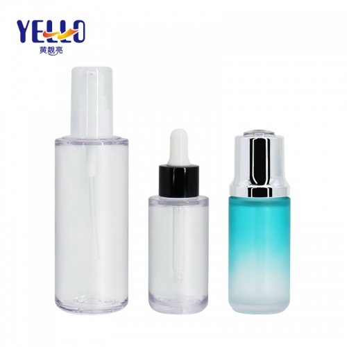Custom Made Plastic Dropper Bottles 40ml 100ml / Serum Dropper Bottles For Cosmetics