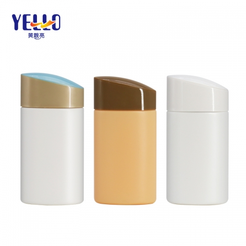 Colorful 60ml Empty Plastic Lotion Squeezing Bottle , Flat Cream PE Bottle With Nozzle Mouth