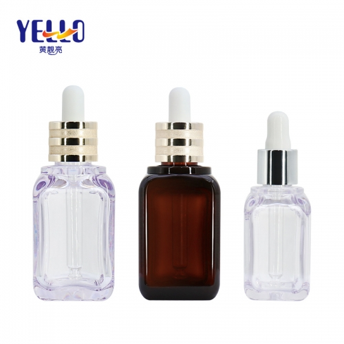 Luxury Thick Wall 30ml 50ml Serum Dropper Bottles / Eco Friendly Cosmetic Dropper Bottle