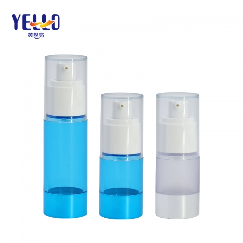 15ml 30ml Refillable Clear Airless Cosmetic Spray Bottles / Empty Plastic Liquid Bottle