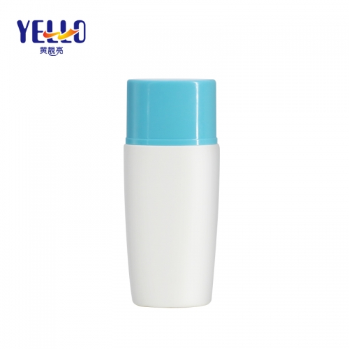 Squeezing Plastic Flat Bottles For Sunblocks Cream , Empty Customized Cosmetic Packaging Bottle