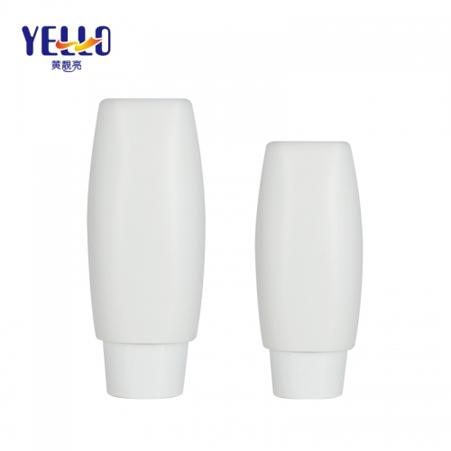 50ml 80ml Tottle Squeezable Tubes, White Plastic Tottle Bottles With Nozzle