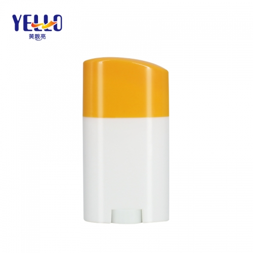 25g PP Plastic Sunscreen Stick Roller On Bottle , Customized Sun Stick Container