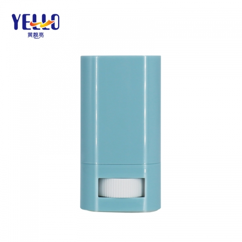 OEM Custom Deodorant Tubes Wholesale, 15ml Blue Sunscreen Plastic Stick Container