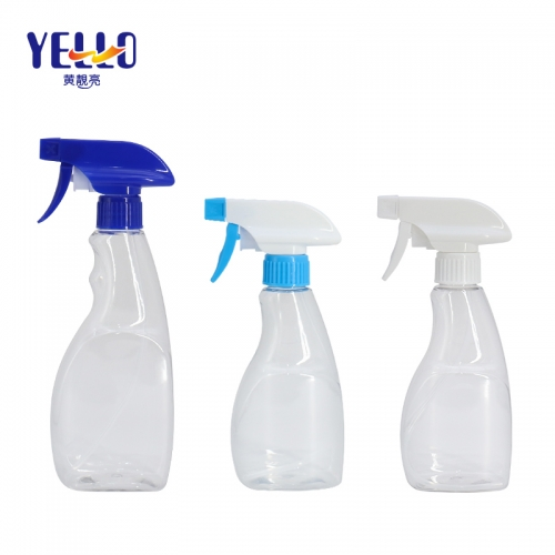 300ml 400ml PET Plastic Trigger Spraying Bottles / Empty Clear Disinfectant Container