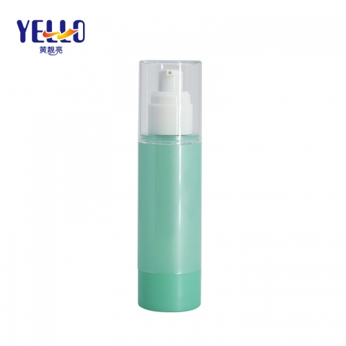 80ml Empty Green Airless Pump Bottles, Face Cream Foundation Cosmetic Bottle