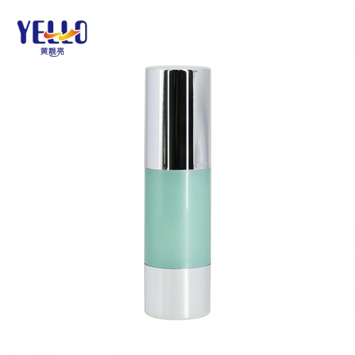 Luxury Plastic Airless Pump Bottles 30ml, Refillable Cylinder Airless Bottle For Foundation