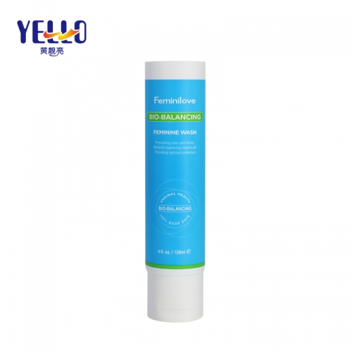 4oz 120g Blue Cosmetic Squeeze Tube Container Packaging For Face Wash