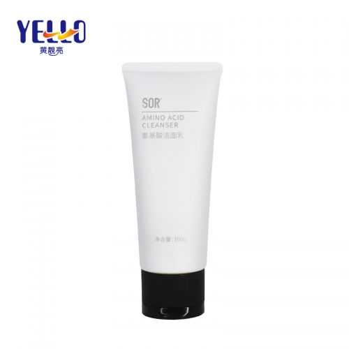 OEM Custom 100g Matte White Cosmetic Tube Packaging For Facial Cleanser