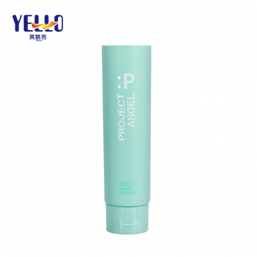 Blue Matte Face Cream Plastic Cosmetic Squeeze Tubes 100g With Flip Cap