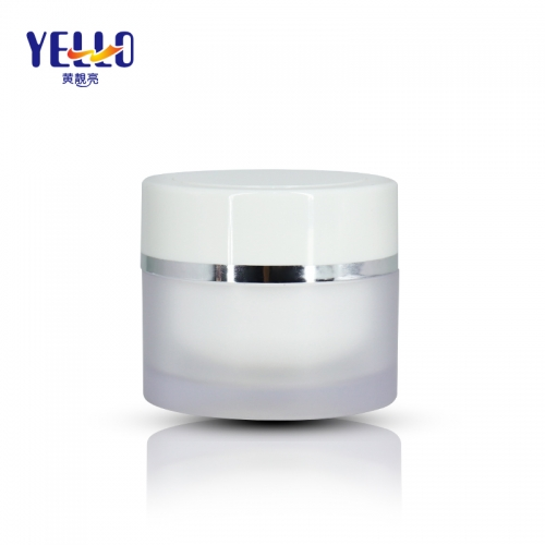PS Material Plastic Cosmetic Cream Pots , Empty Face Moirsturizer Jar