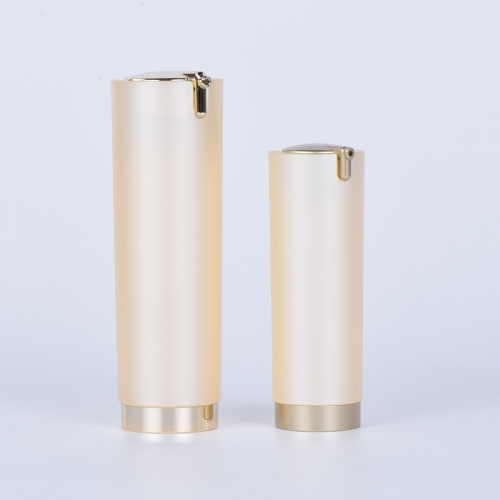 Luxury 15ml 30ml Press Airless Pump Bottles For Skincare Packaging