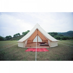 5m Canvas Bell Tent With Double Door