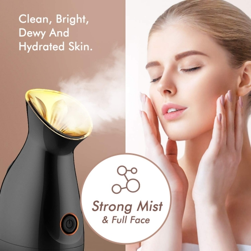 Besteamer Facial Steamer - Nano Ionic Face Steamer for Home Facial Ozone Ultra-Nano Water Molecules Warm Mist Humidifier Steamer Precise Temp Control Touch Switch - Unclogs Pores