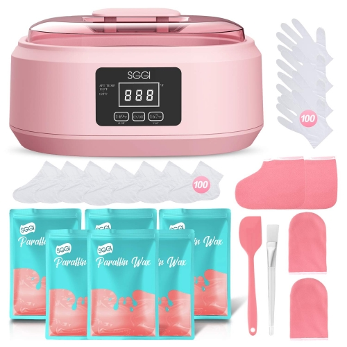 SGGI Paraffin Wax Machine Touchable 3000ML Large Capacity for Hand and Feet, Moisturizing Paraffin Spa Wax Bath Kit,6 Packs of Wax 0.2KG at Home for Smooth and Soft Skin,Gift for Women