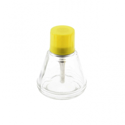 Transparent Glass Conical Pump Alcohol Bottle 150ml