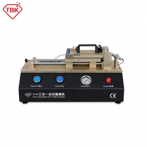 TBK 765 3 in 1 Automatic OCA Film Laminating Machine Built-in Vacuum Pump and Air Compressor ​​​​​​​